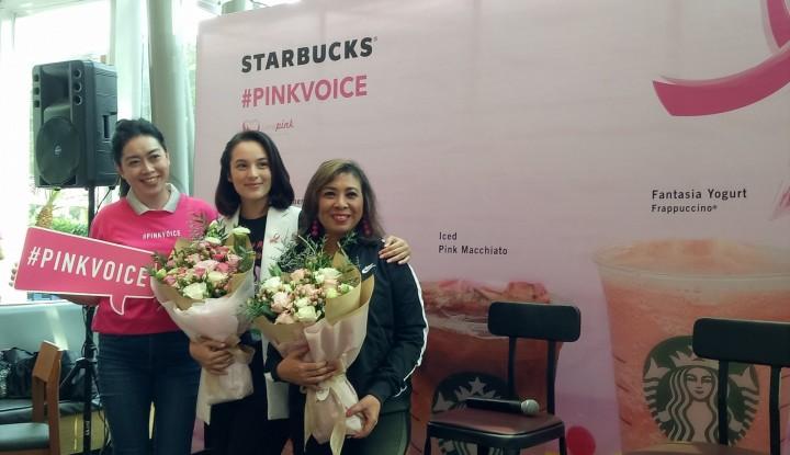 Foto Berita Peduli Kanker Payudara, Starbucks Gandeng Lovepink Gelar Kampanye Pinkvoice