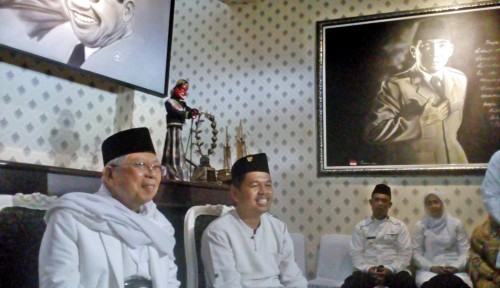 Foto Hadiri HSN di Tasikmalaya, Ini Pesan Ma'ruf Amin