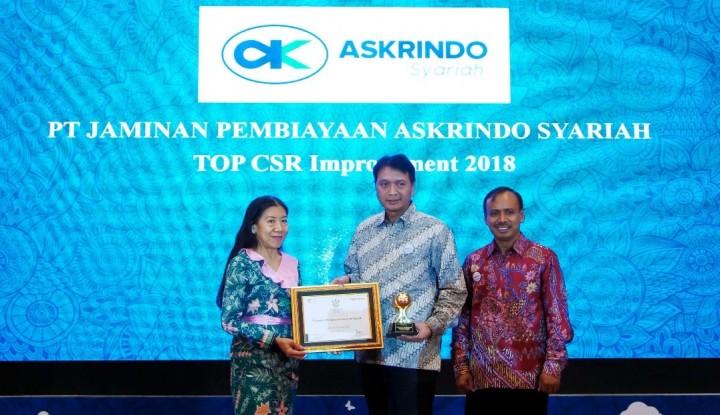 Askrindo Syariah Sabet Top CSR 2018 - Warta Ekonomi
