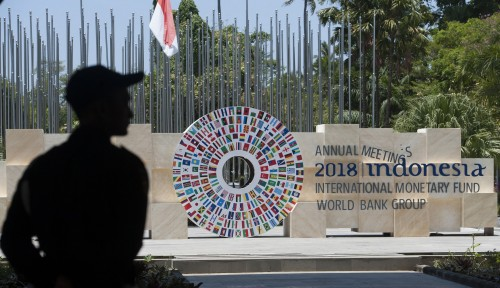 Foto Kunjungi Tukad Bindu, Delegasi IMF Terpukau