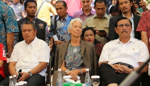 Foto Lagarde: I am Deeply Saddened by the Loss of Life in Lombok