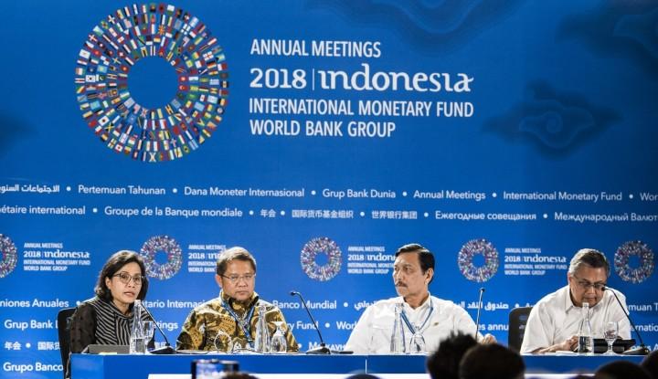 Foto Berita Ditanya Soal Kesan Peserta di IMF-WB Bali, Ini Jawaban Sri Mulyani