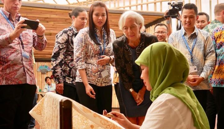 Foto Berita Indonesia Pavilion Berhasil Tarik Perhatian Managing Director IMF