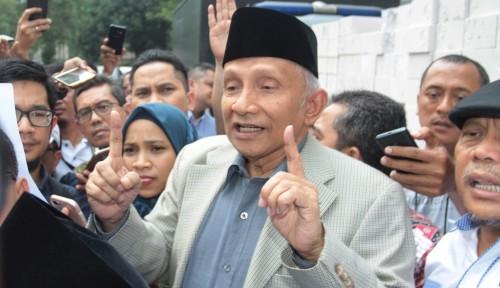 Foto Amien Rais: Indonesia Dihantui Dajal Ekonomi