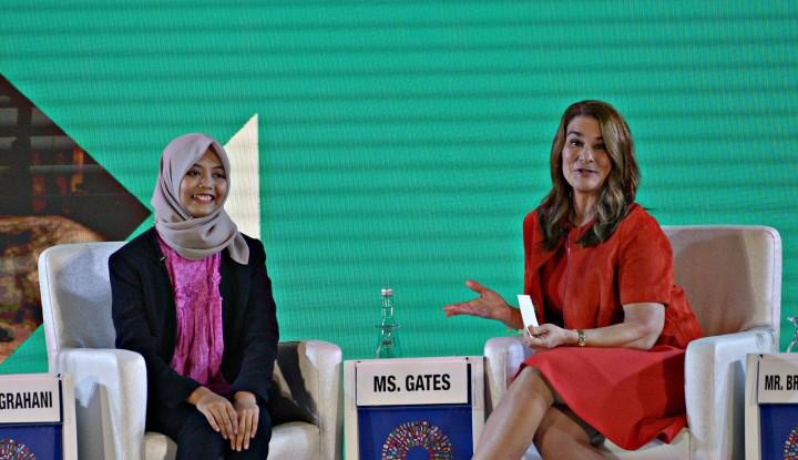 Foto Berita Memasukkan Unsur Gender, Istri Bill Gates Dukung Langkah World Bank