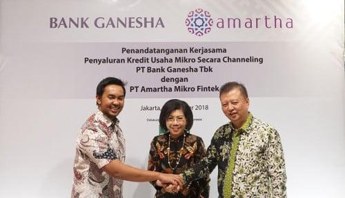 Foto Kolaborasi Bank Ganesha dan Amartha Fintech Dorong Kemajuan Pengusaha Mikro