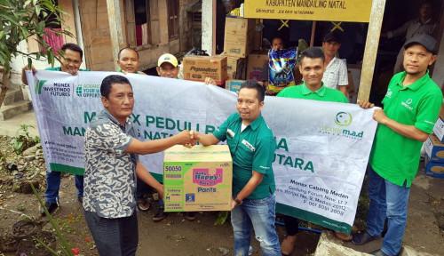 Foto Monex Berikan Bantuan untuk Korban Banjir di Madina Sumut