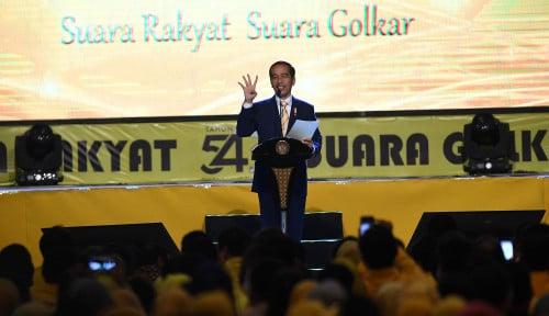 Foto Begini Pujian Jokowi Buat Golkar