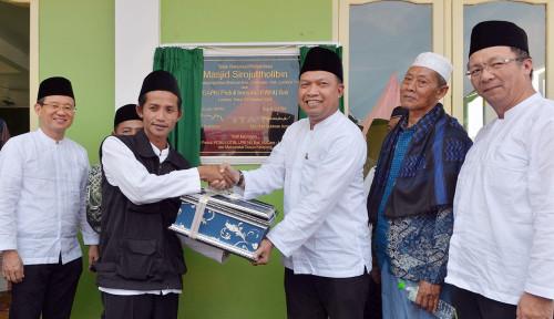 Foto Kerja Sama dengan PWNU Bali, Gapki Renovasi Total Masjid yang Terdampak Gempa di Lombok