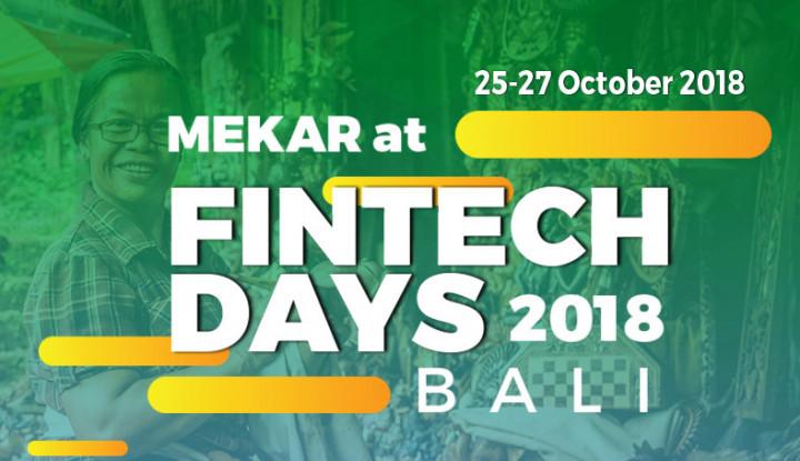 Foto Berita Mekar Umumkan Kehadirannya di Acara Fintech Days Bali 2018