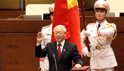 Foto Nguyen Phu Trong, Sekjen Partai Komunis Vietnam Resmi Menjabat Presiden