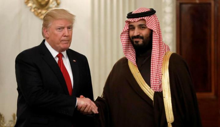 Foto Berita Trump Memilih Setia dengan Mohammad Bin Salman (MBS)