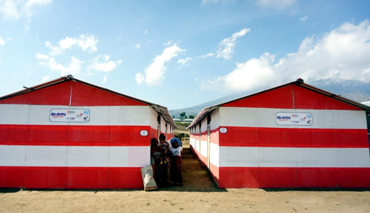 Foto Berita Bank Mandiri Bangun 100 Huntara di Sigi