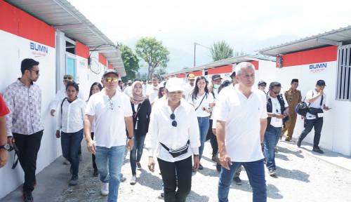 Foto Menteri Rini Tengok Pembangunan Hunian Sementara BUMN di Sigi