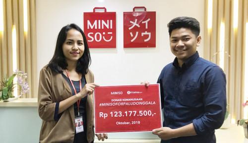 Foto Miniso Salurkan Donasi Pelanggan untuk Sulteng Lewat Kitabisa.com