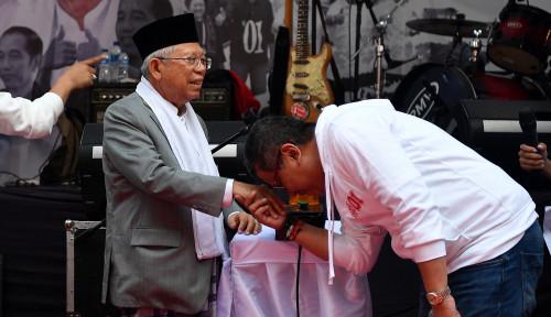 Foto Soal Survei Indo Barometer, Kyai Wapres Angkat Suara...