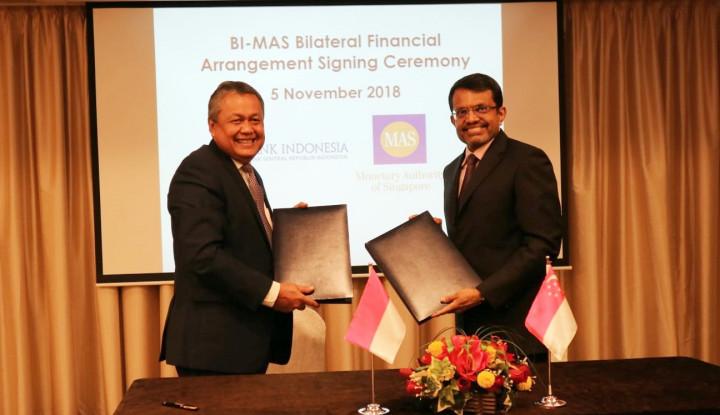 Foto Berita BI dan MAS Sepakati Kerja Sama Keuangan Bilateral US$10 Miliar