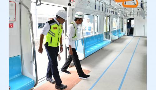 Foto Anies Janji LRT Jakarta Operasi Sebelum Lebaran