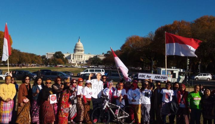 Foto Berita Komunitas Pendukung Jokowi di Washington DC Gelar Kampanye Pemilu Damai