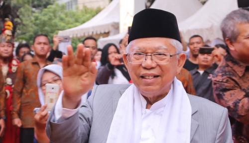 Foto Ma'ruf Amin: Ulama, Ustad, Santri Pasti Pilih Calon yang Ada Ulamanya, Sindir Kubu Sebelah?