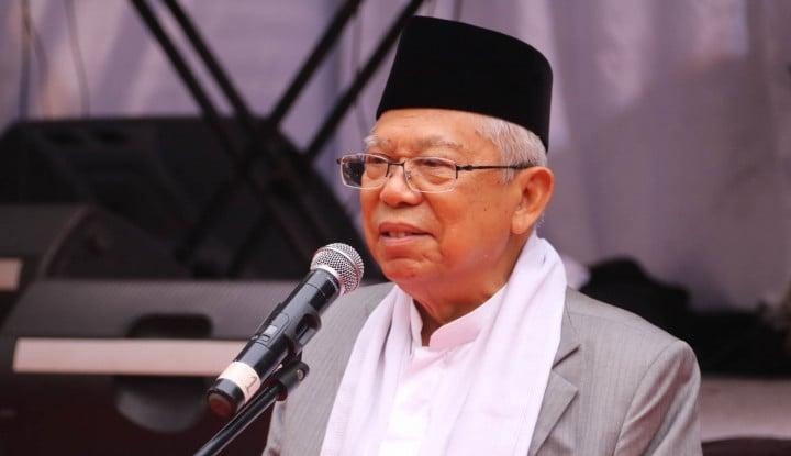 Foto Berita Ma'ruf Amin: Ekonomi Syariah Cocok Diterapkan di Indonesia
