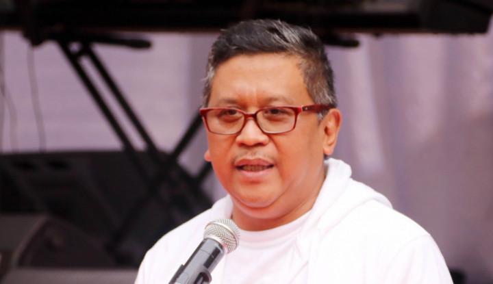 Elektabilitas Prabowo-Sandi Hanya Naik 4 Persen, Hasto: Dilengkapi Hoax dan Fitnah