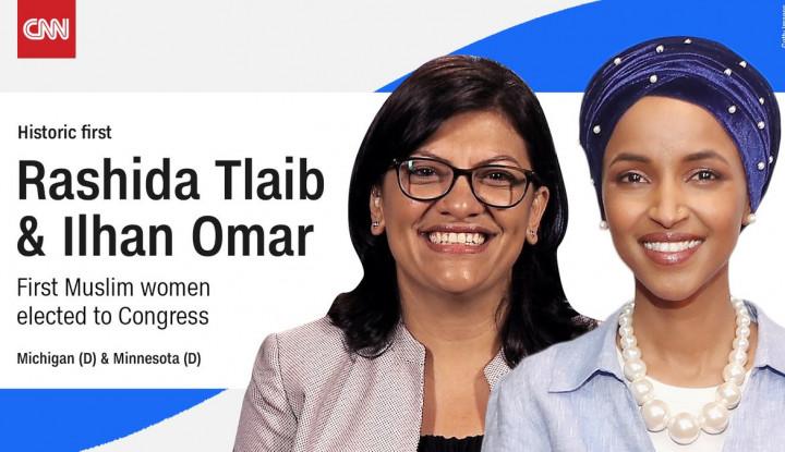 Foto Berita Sejarah Baru Terukir di AS, 2 Wanita Muslim Terpilih jadi Anggota Kongres