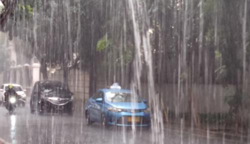 Foto Jakarta Diguyur Hujan Sejak Dini Hari, Banjir dan Pohon Tumbang Menghantui, BNPB: Waspada!