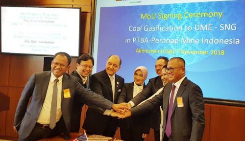 Foto Kerja Sama dengan Air Products, Bukit Asam Dorong Percepatan Hilirisasi Batubara