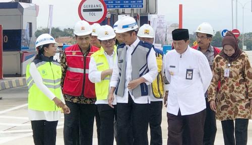 Foto Ruas Tol Pejagan-Pemalang Diresmikan Jokowi, Menteri Rini Yakin Bakal Dorong Ekonomi Setempat