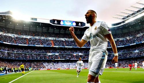 Foto Gol Tunggal Benzema Hempaskan Atletico Madrid
