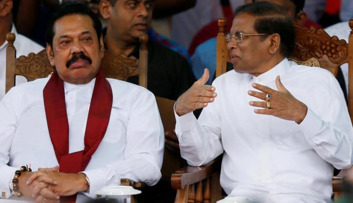 Foto Berita Perdana Menteri & Presiden Pecah Kongsi, Krisis Menghantui Sri Lanka