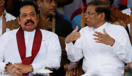 Foto Perdana Menteri & Presiden Pecah Kongsi, Krisis Menghantui Sri Lanka