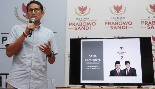 Foto 'Gila', Baru 3 Bulan Sandiaga Habiskan Rp30 M Untuk Kampanye
