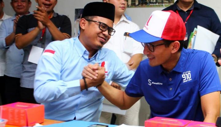 Foto Berita Jika Menang, Bang Sandi Yakin ada Referendum Ekonomi di Indonesia