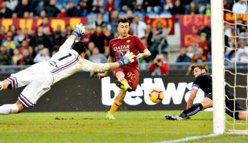 Foto Dua Gol Shaarawy Antarkan Roma Kalahkan Sampdoria 4-1