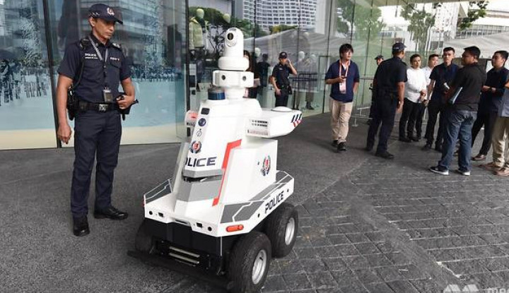 Amankan KTT ASEAN ke-33, Singapura Kerahkan Robot Polisi - Warta Ekonomi