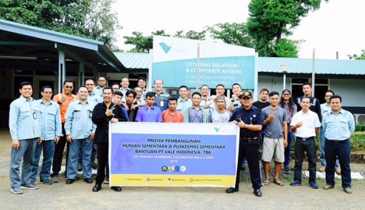 Foto Berita PT Vale Kirim Tim Konstruksi Huntara ke Sulteng