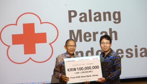 Foto Bank KEB Hana Gelontorkan 100 Juta Won untuk Pemulihan Palu-Donggala