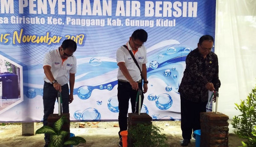 Foto Melalui Pipa 5.000 Meter, Kimia Farma Sediakan Air Bersih di Gunungkidul