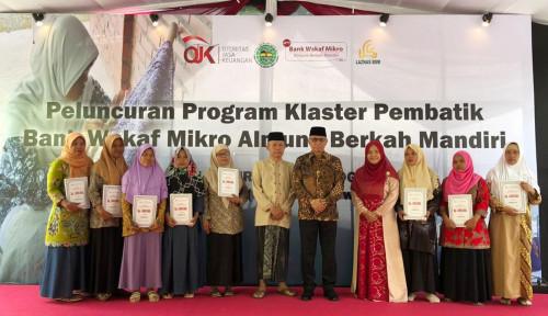 Foto OJK Luncurkan Bank Wakaf Mikro dengan Pola Klaster Pertama di Indonesia
