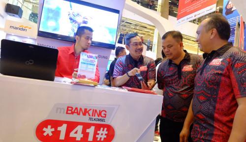 Foto Gaet 80 Bank, Telkomsel Permudah Transaksi Finansial