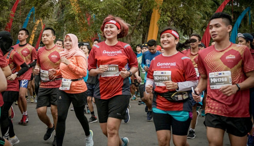 Foto Jadi Official Insurance Partner, Generali Lindungi Peserta Borobudur Marathon 2018