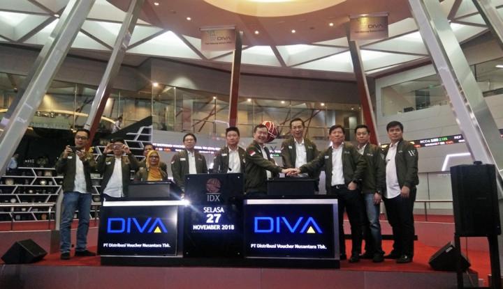 Foto Berita Perdana Melantai, Saham DIVA Naik 13,56%