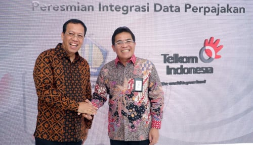 Foto Telkom dan Dirjen Pajak Jalankan Program E-Faktur Host to Host