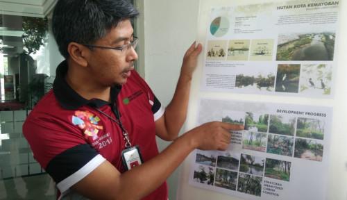 Foto Revitalisasi Hutan Kota Kemayoran Hampir Rampung