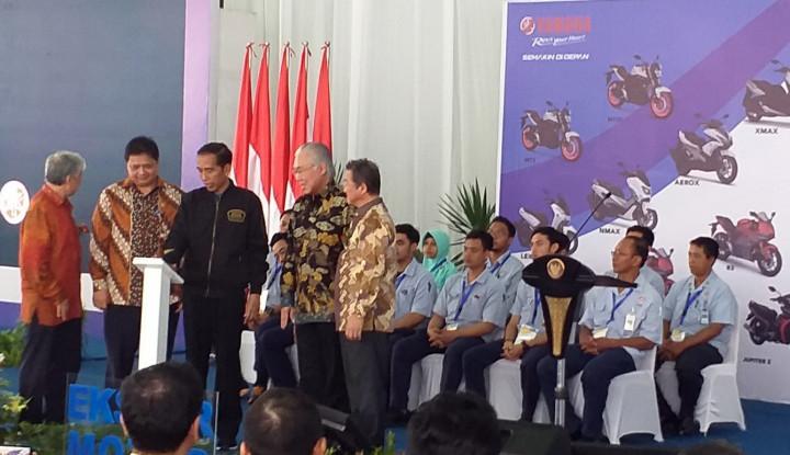 Foto Berita Jokowi Lepas 1,5 Juta Ekspor Motor Yamaha