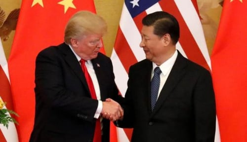 Foto Trump Bakal Intervensi Kasus yang Menimpa CFO Huawei