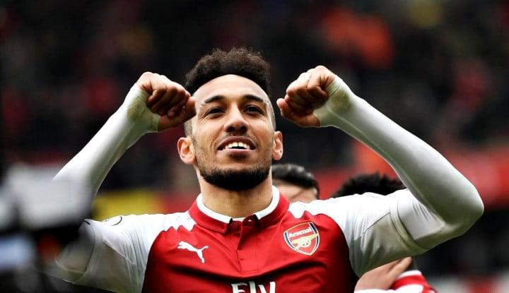 Foto Berita Aubameyang Jadi Pahlawan Kemenangan Arsenal atas Spurs