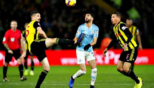 Foto Manchester City Kalahkan Watford 2-1
